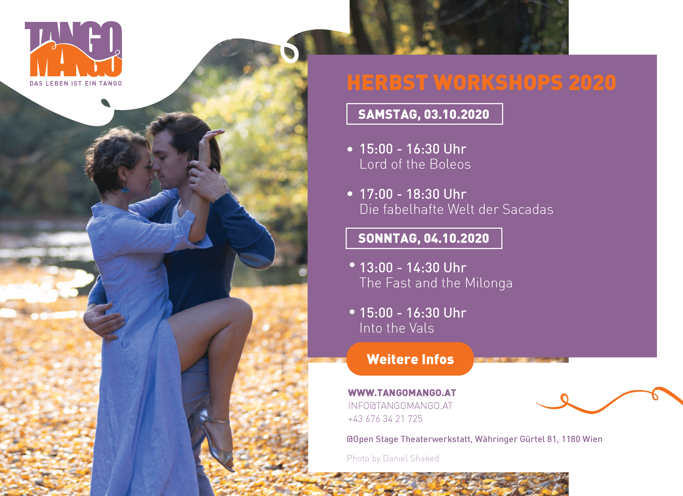Tango Herbst Workshops 2020