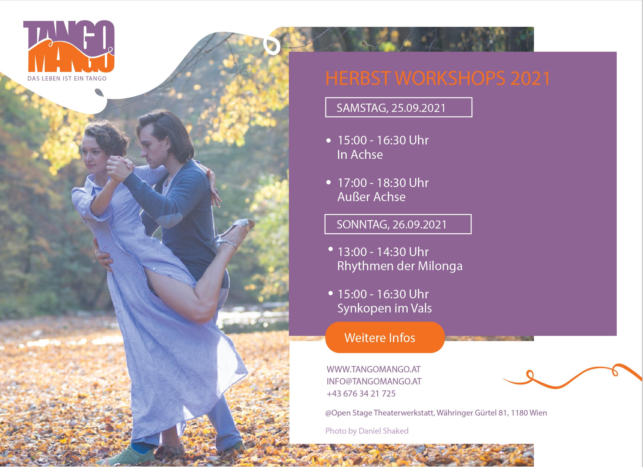 Tango Workshops Herbst 2021